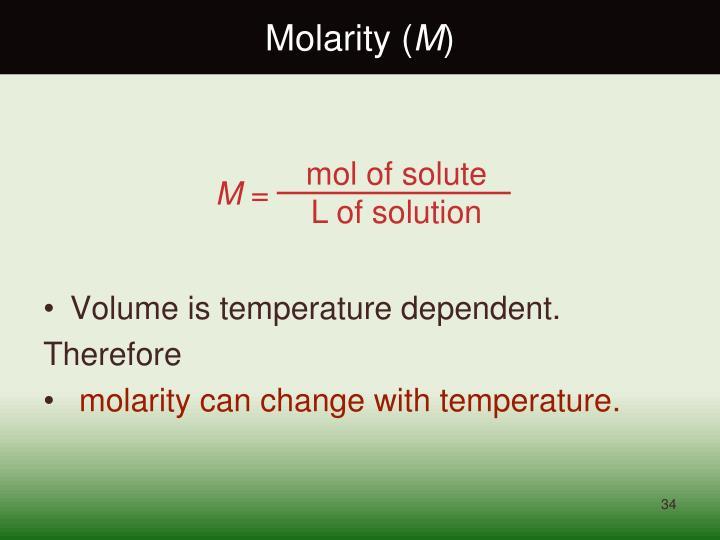 Molarity (