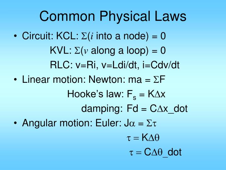 Common physical laws