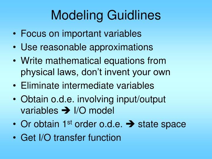Modeling Guidlines