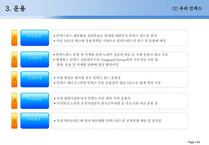 인덱스펀드 대중화를 설립목표로 탄생한 대한민국 인덱스 펀드의 종가