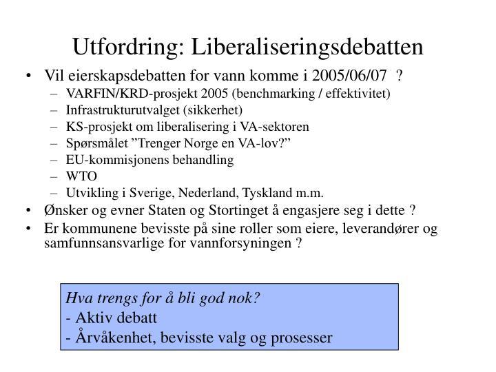 Utfordring: Liberaliseringsdebatten