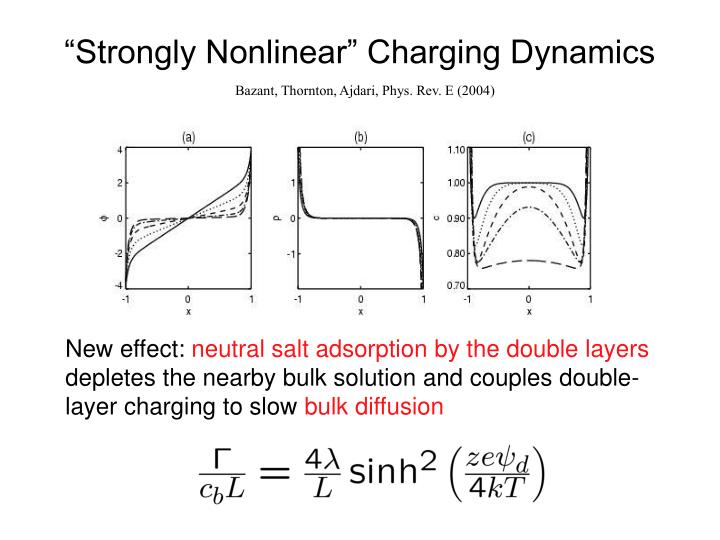"""Strongly Nonlinear"" Charging Dynamics"