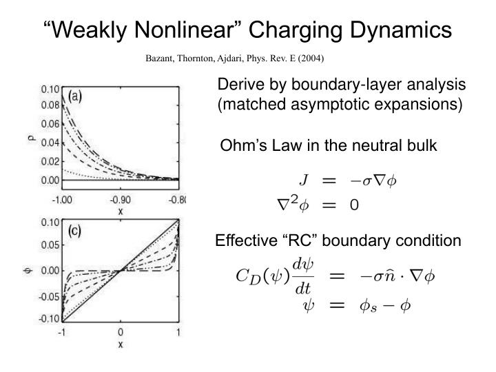 """Weakly Nonlinear"" Charging Dynamics"