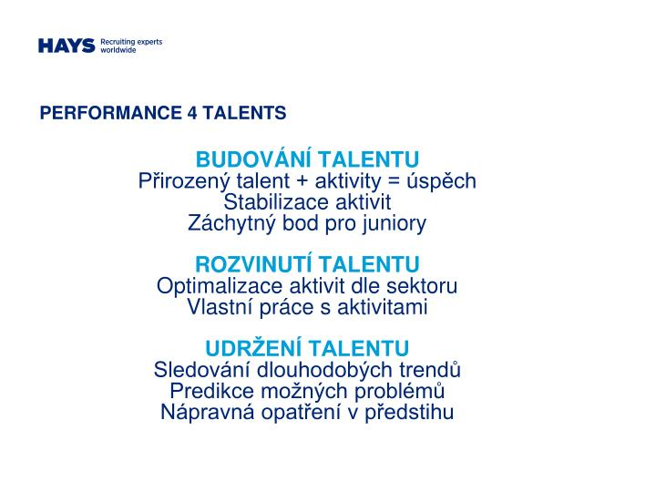 PERFORMANCE 4 TALENTS