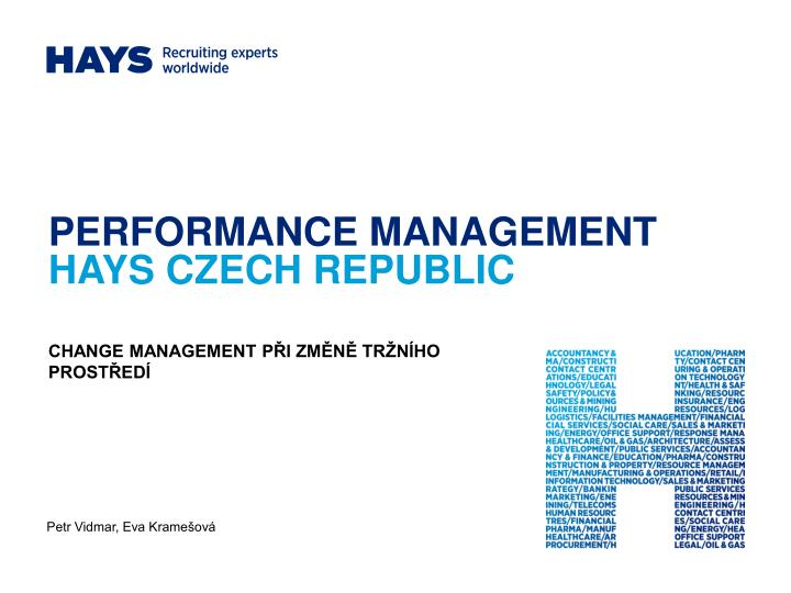 Performance management hays czech republic