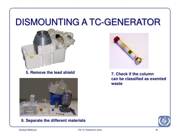 DISMOUNTING A TC-GENERATOR