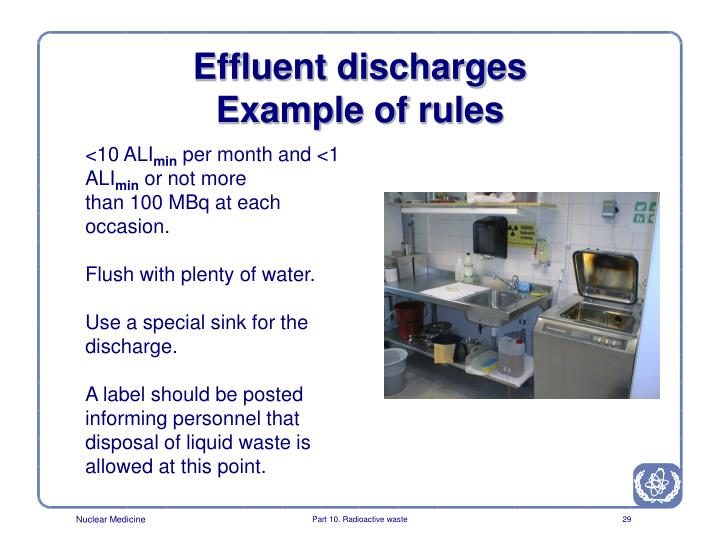 Effluent discharges