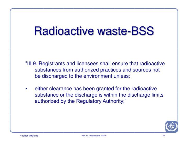 Radioactive waste-BSS
