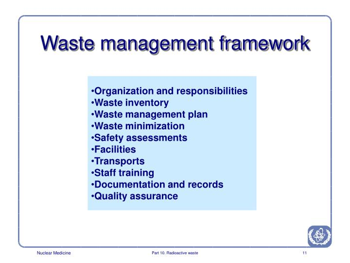 Waste management framework