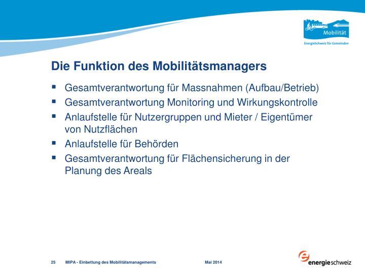 Die Funktion des Mobilitätsmanagers