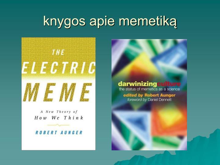 knygos apie memetiką