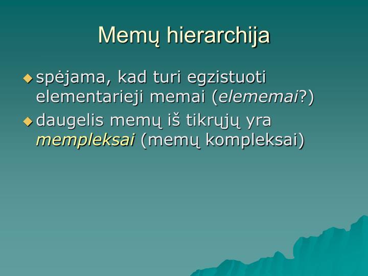 Memų hierarchija