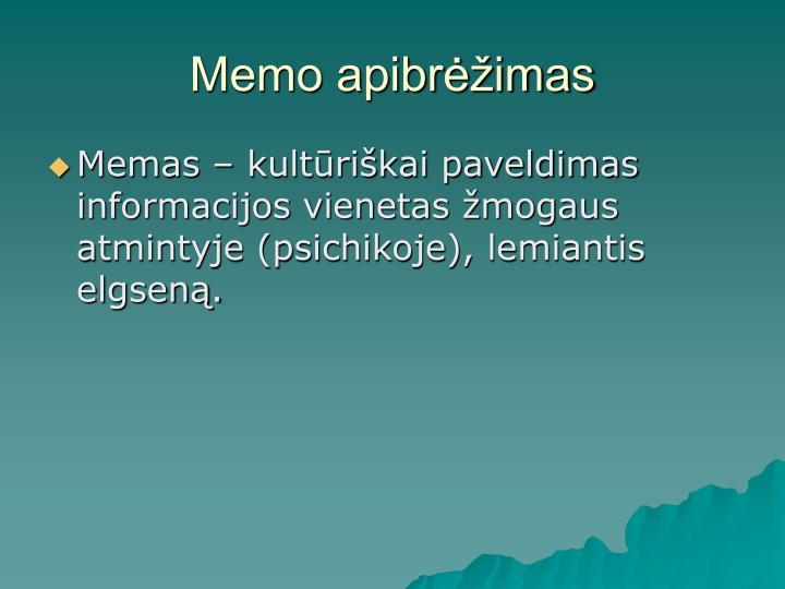 Memo apibrėžimas