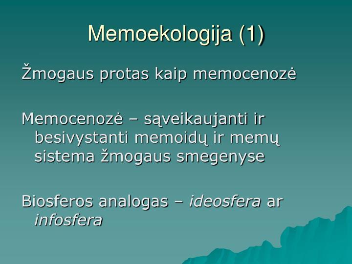 Memoekologija (1)