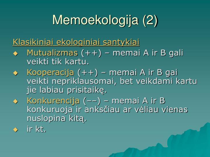 Memoekologija (2)