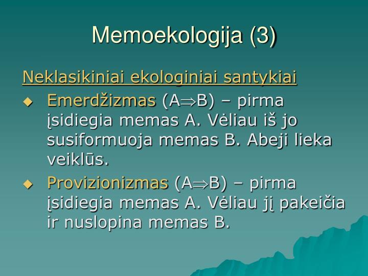 Memoekologija (3)