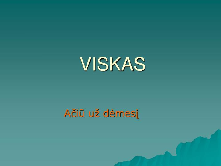 VISKAS
