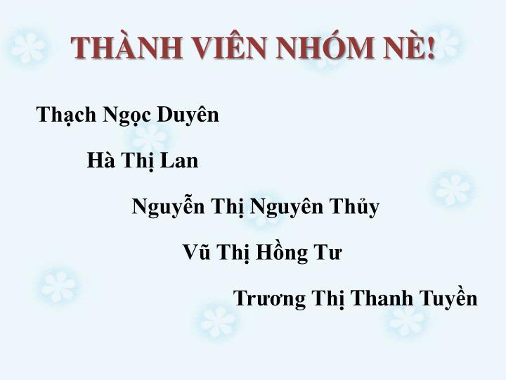 THNH VIN NHM N!