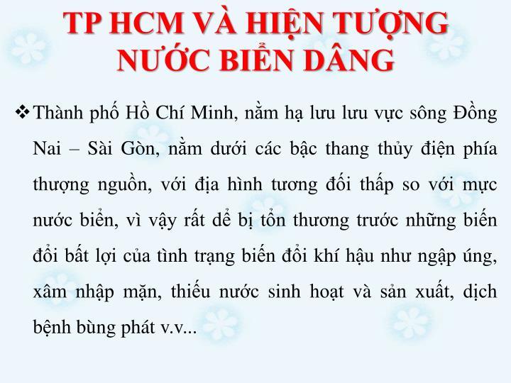 TP HCM V HIN TNG