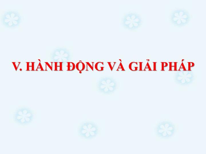 V. HNH NG V GII PHP