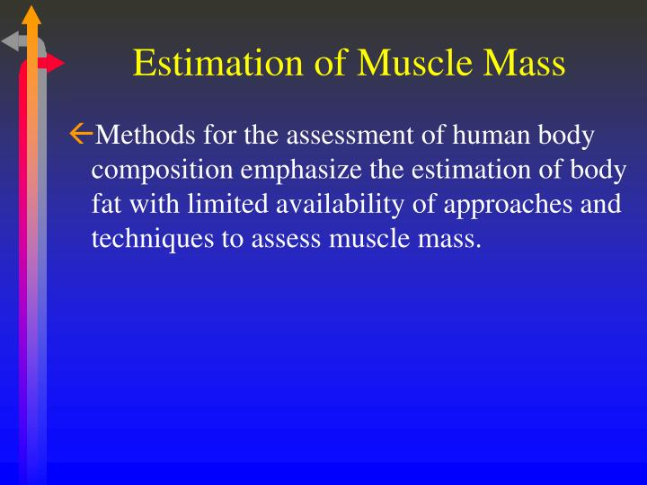 Estimation of muscle mass