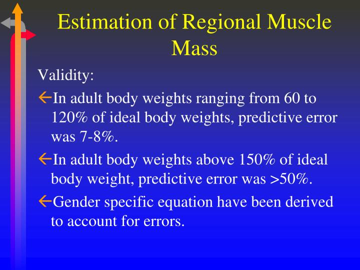 Estimation of Regional Muscle Mass