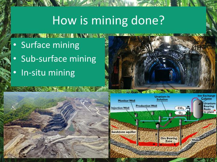 How is mining done?