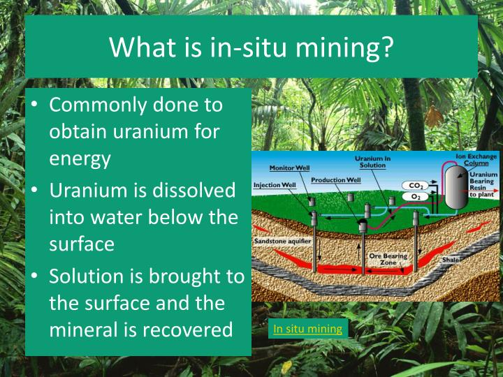 What is in-situ mining?