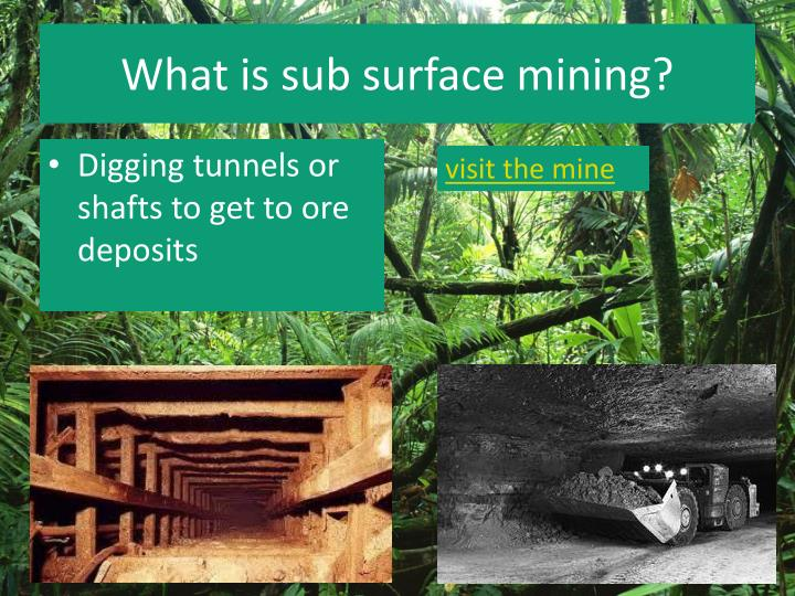 What is sub surface mining?