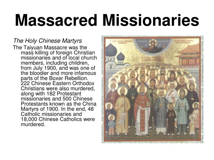 Massacred Missionaries