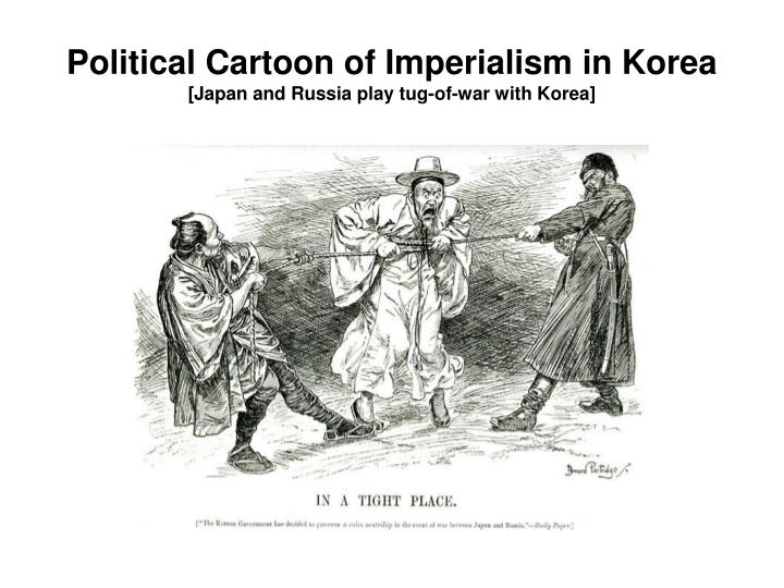 Political Cartoon of Imperialism in Korea