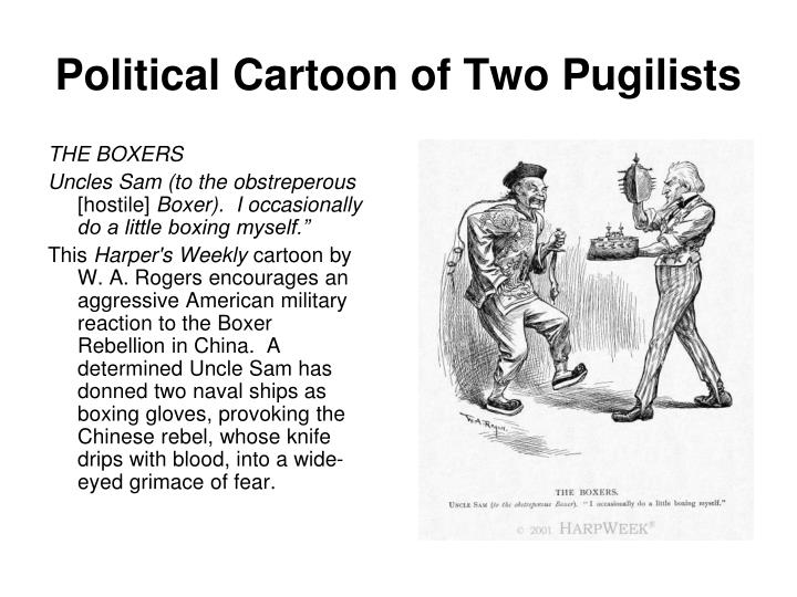 Political Cartoon of Two Pugilists