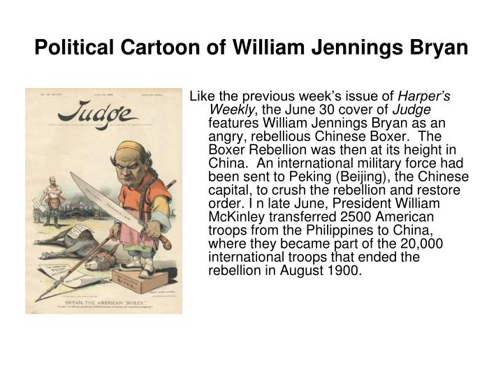Political Cartoon of William Jennings Bryan