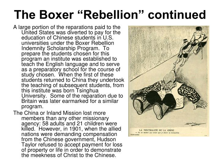 "The Boxer ""Rebellion"" continued"