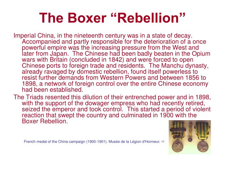 "The Boxer ""Rebellion"""