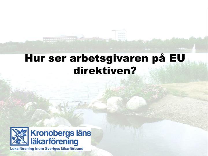 Hur ser arbetsgivaren på EU direktiven?