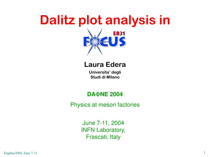 Dalitz plot analysis in