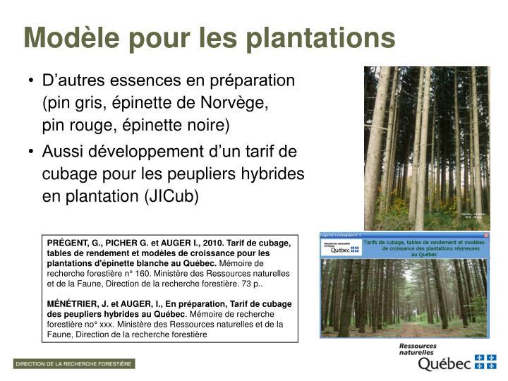 Modèle pour les plantations