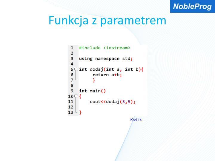 Funkcja z parametrem