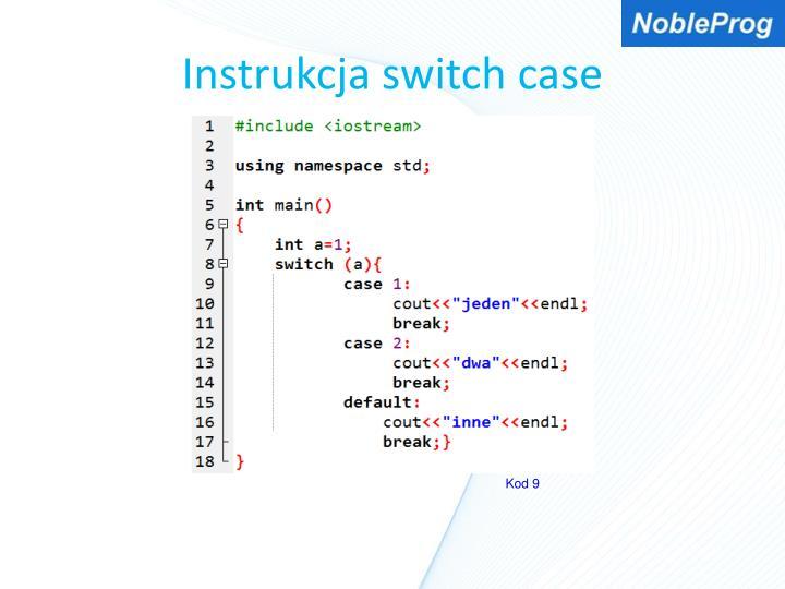Instrukcja switch case