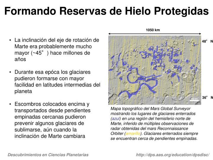 Formando Reservas de Hielo Protegidas
