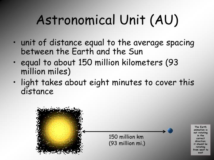 how to find astronomical units