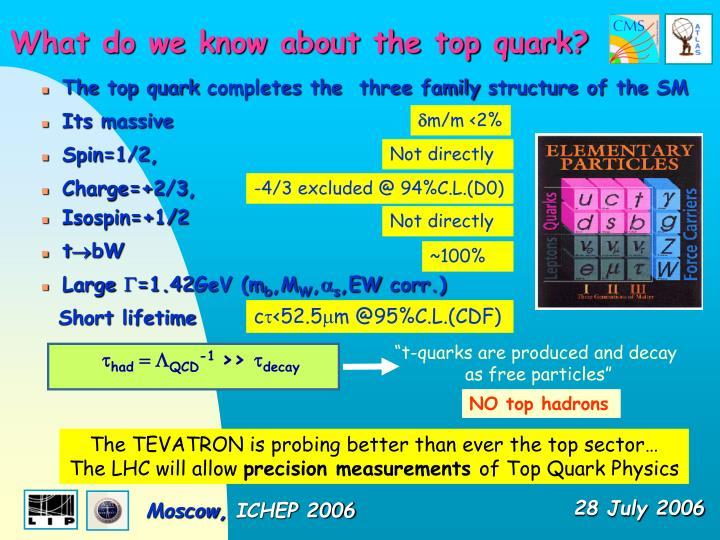 """""""t-quarks are produced and decay"""