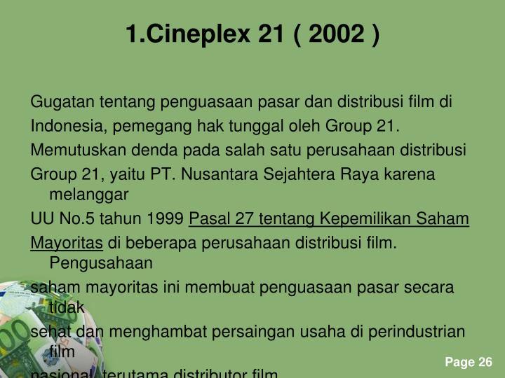 Gugatan tentang penguasaan pasar dan distribusi film di