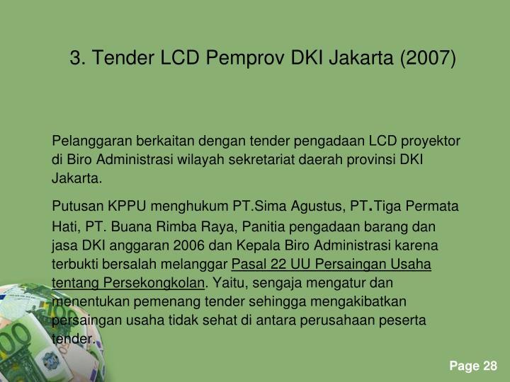 Pelanggaran berkaitan dengan tender pengadaan LCD proyektor
