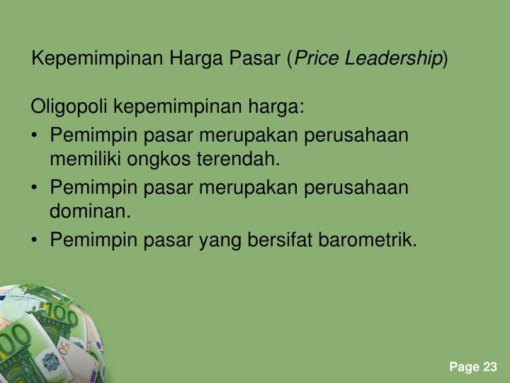 Kepemimpinan Harga Pasar (