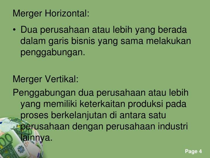 Merger Horizontal: