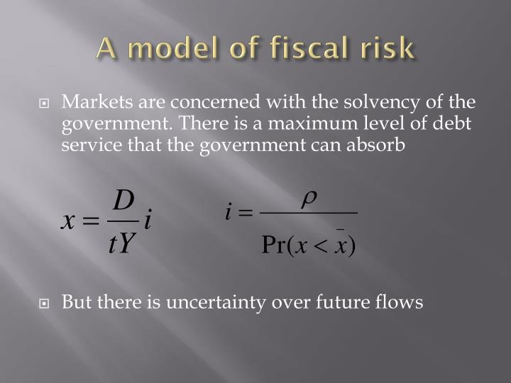 A model of fiscal risk