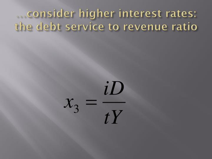 …consider higher interest rates: