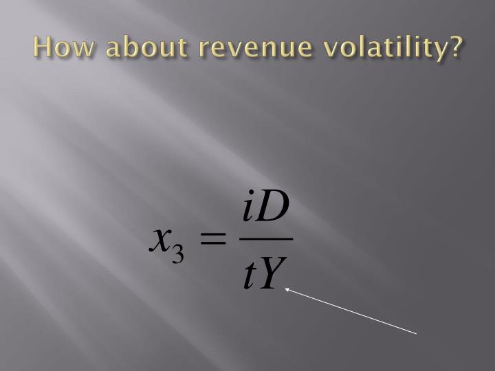 How about revenue volatility?